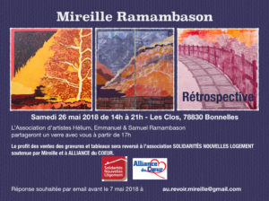 Rétrospective Mireille Ramambason - 26 mai 2018